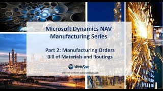 Dynamics NAV Manufacturing Series - Part 2 Manufacturing Orders