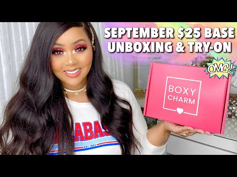 SEPTEMBER $25 BASE BOXYCHARM • 2020• UNBOXING & TUTORIAL 🔥|| BEAUTY BOX REVIEW 🖤