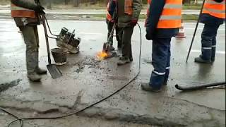 Ремонт дороги в Николаеве