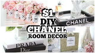 $1 CHANEL DOLLAR TREE 4 DIY HACKS ROOM DECOR