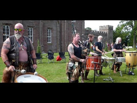 Scottish Tribal Band Clann An Drumma Performing Scone Palace By Perth Perthshire Scotland