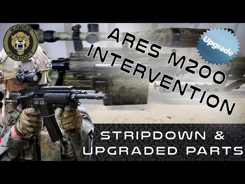 ARES M200 INTERVENTION - BIG POWER UPGRADES -  AIRSOFT SNIPER RIFLE