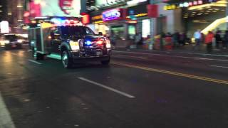4 UNITED STATES SECRET SERVICES UNITS RESPONDING MODIFIED ON W. 42ND ST. IN TIMES SQUARE, MANHATTAN.