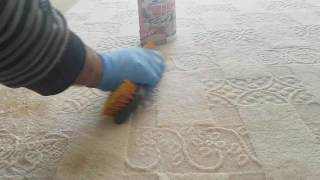 Marka halı yıkama leke çıkarma uygulaması.