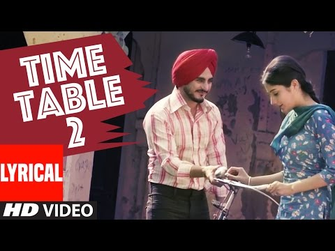 Kulwinder Billa Time Table 2 (ਟਾਈਮ ਟੇਬਲ 2) Full Lyric VideoSong | Latest Punjabi Song