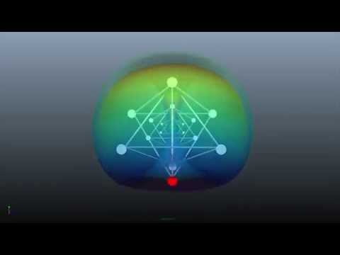 Tetrahedro Merkaba Toroidal Energy with alignment of Chakras