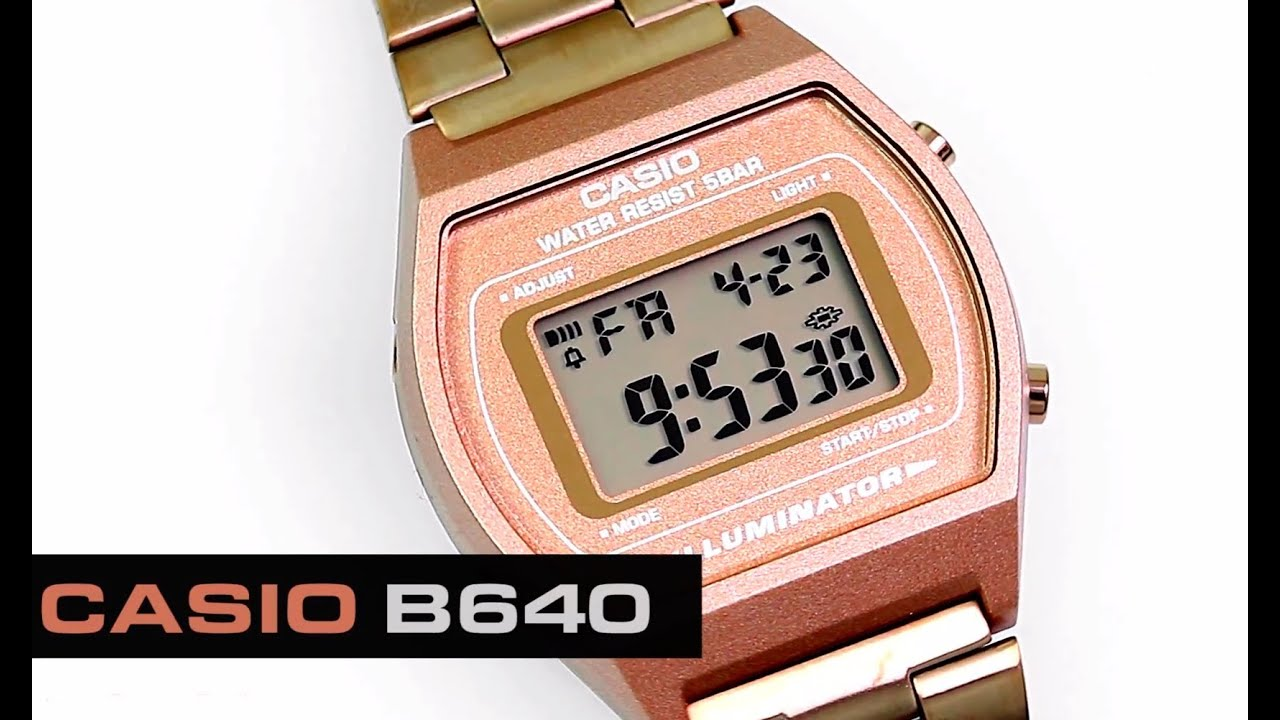 5ceae8924264 Reloj Casio Retro B640 Bronce - CompraFacil.mx - YouTube