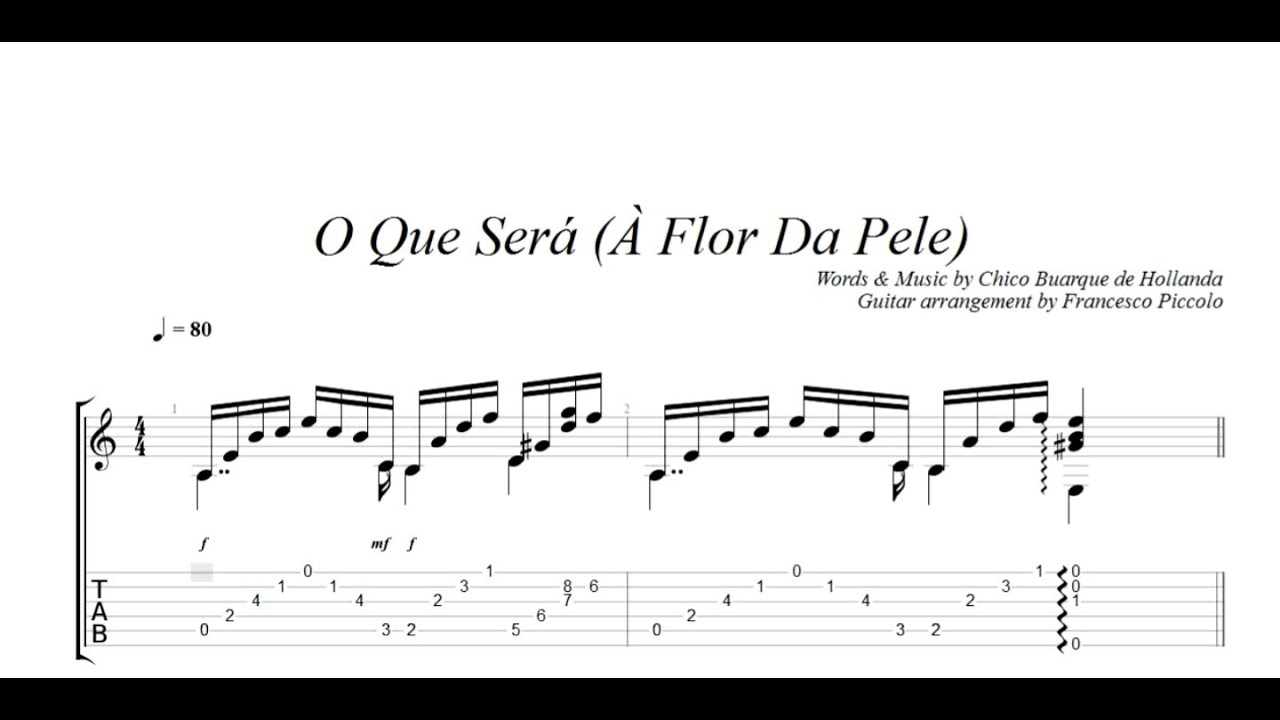 Fingerstyle guitar o que ser flor da pele from bossa nova fingerstyle guitar o que ser flor da pele from bossa nova collection nr12 hexwebz Image collections