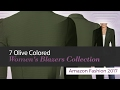 7 Olive Colored Women's Blazers Collection Amazon Fashion 2017