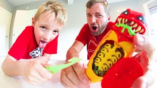 Father & Son DISSECT GROSS ALIEN BUG !? / Treasure Inside!?