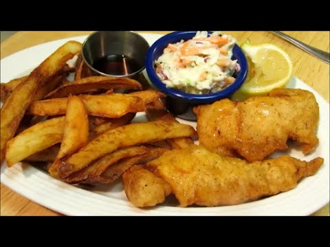 Fish and chips how to make fish and chips youtube for How to make fish and chips