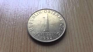 1 Schilling Münze aus der Republik Österreich von 1992 in HD