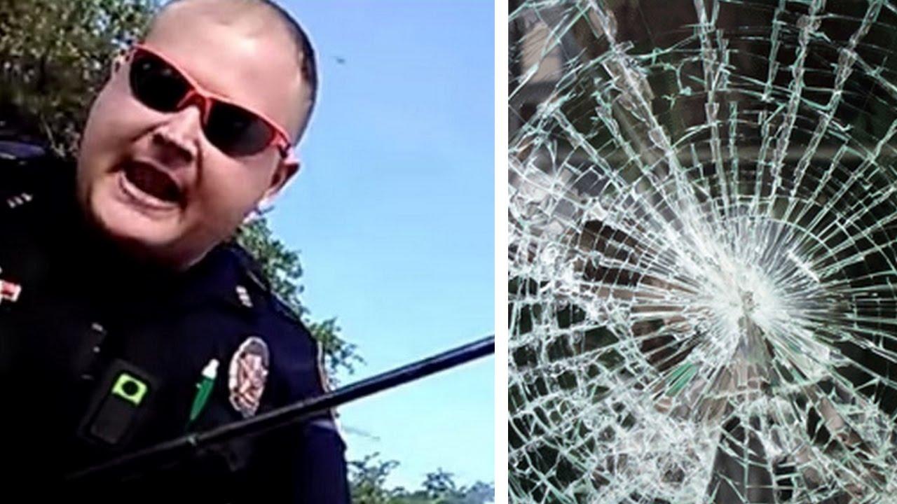 Download Cop Smashes Sovereign Citizen's Window After He Resists Arrest