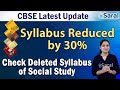 Gambar cover Class 9 & 10 CBSE Latest Update | Syllabus reduced by 30% | Check deleted Syllabus of Social Science