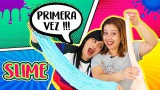 Haciendo SLIME por Primera vez con mi amiga !! First time making slime !