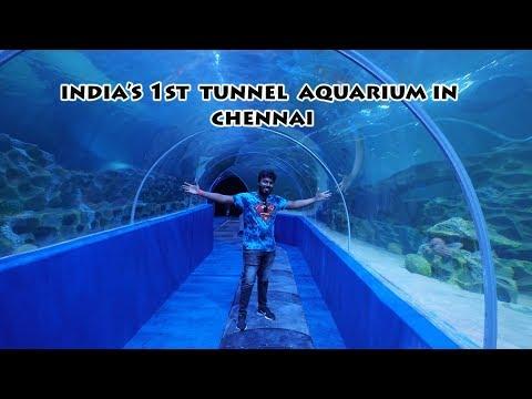 கடலுக்கடியில் கண்ணாடி சுரங்கம் - New Holiday spot in Chennai - VGP Marine kingdom