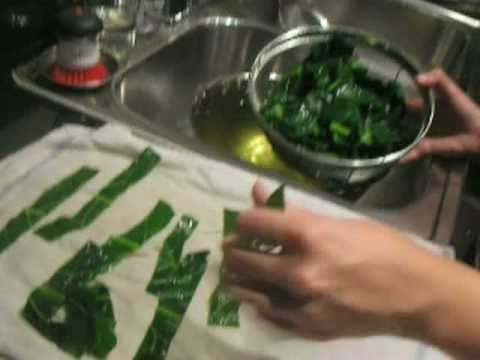 Blanching and Freezing Greens