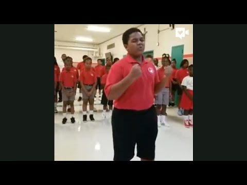 Students sing beautiful version of Andra Day's song, 'Rise Up'