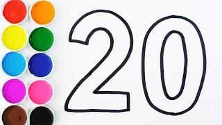 Dibuja y Colorea Los Números de 1 al 20 en Español - Aprende Colores y Números Para Niños / FunKeep