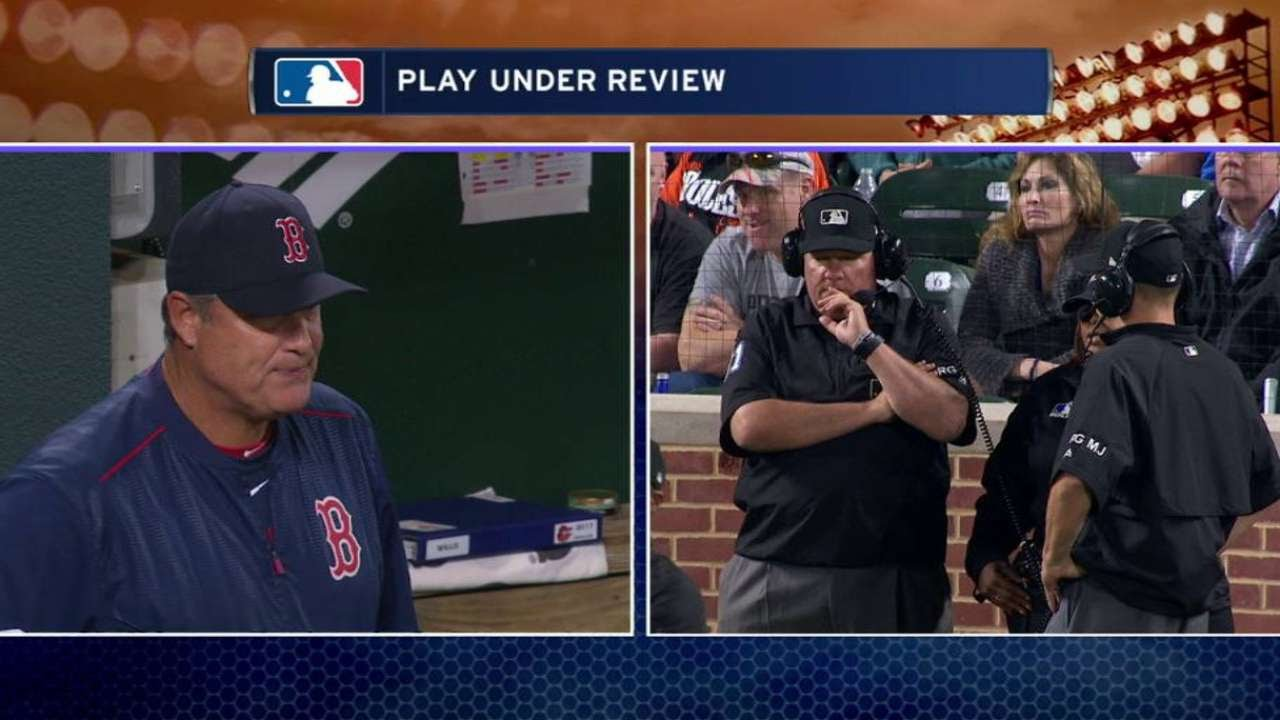 BOS@BAL: Machado out at second after call confirmed