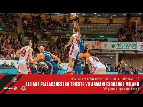 Allianz Pallacanestro Trieste Vs A|X Armani Exchange Milano | LBA 20° Giornata