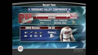 MVP 06 NCAA Baseball PlayStation 2 Gameplay - Dynasty