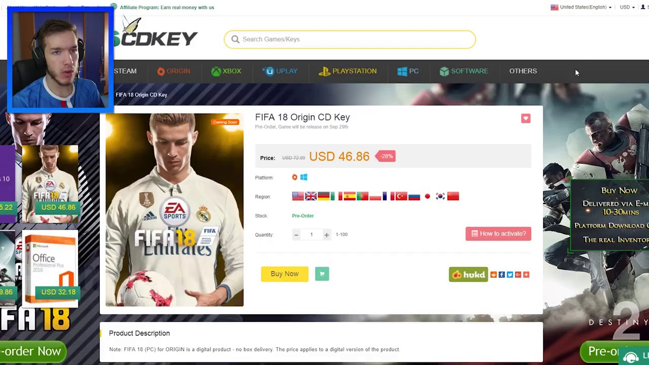 What is the cd key of fifa 18 origin training cards fifa 11