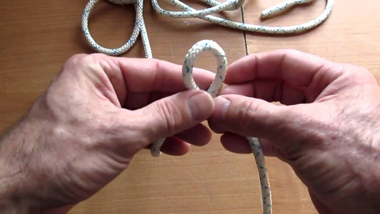 Как вязать узел булинь видео