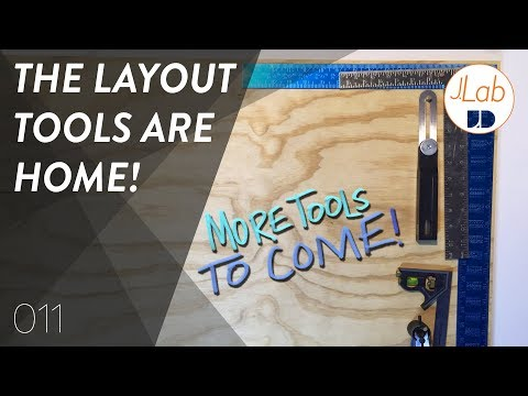 Layout Tools - DIY EASY Tool Wall   Shop Projects - Ep. 011