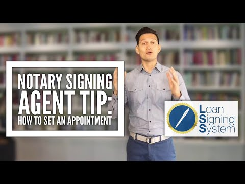 Notary Loan Signing Agent Training: How to Set an