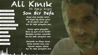 Ali Kınık - Son Bir Defa (Official Lyric Video)
