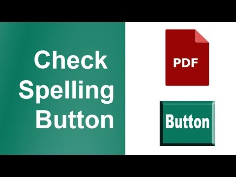 How to Add Check Spelling Button in PDF Document by using adobe acrobat pro