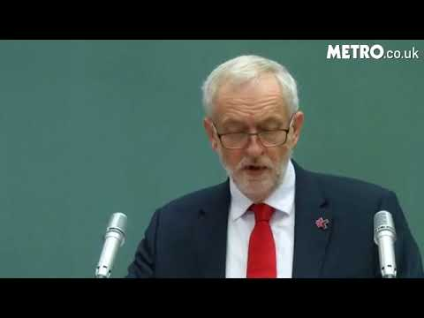 Jeremy Corbyn speaking at the UN