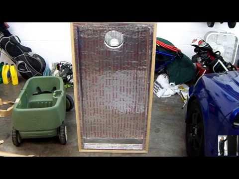 DIY 4 Layer Aluminum Screen Solar Furnace Build