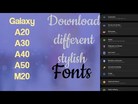 More Stylish Fonts Download For Samsung Galaxy A20, A30,a40,a50,m20