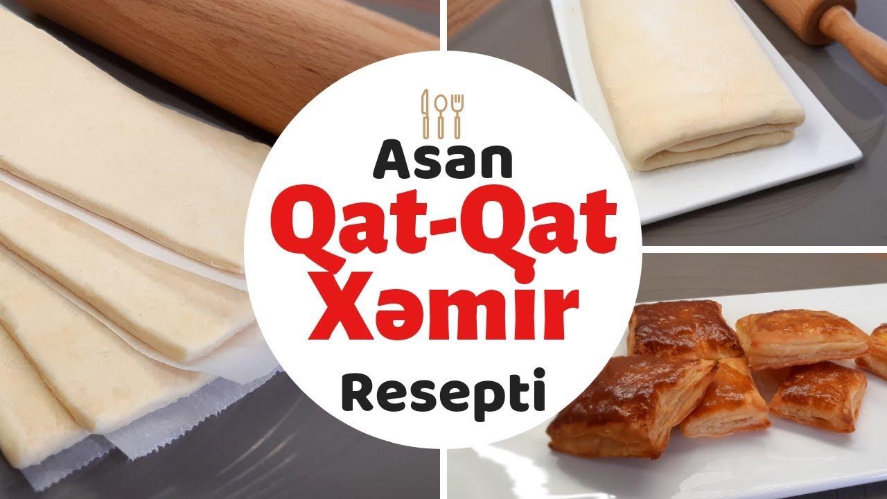 Qat-Qat Xəmir Resepti. Milföy Xəmiri .