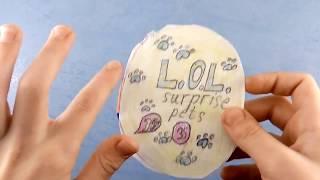 Поделки из бумаги • Кукла из шарика L.O.L. своими руками • Детское творчество, Ева, 7 лет