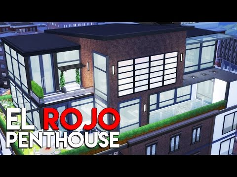 The Sims 4 Speed Build  - El Rojo Penthouse