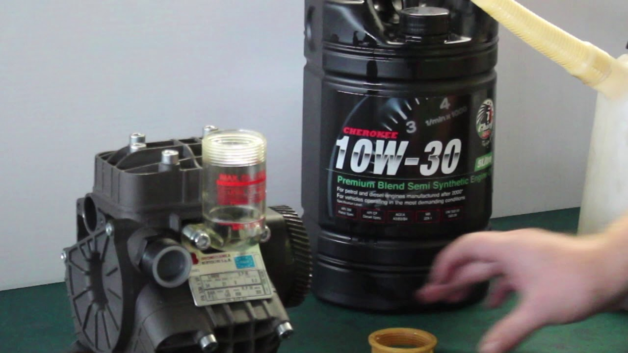 How to correctly fill your Bertolini pump with oil