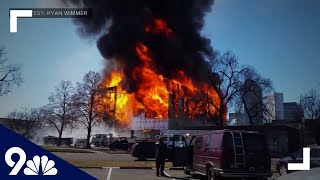 RAW: Smoke, flames from massive construction fire seen for miles in Denver