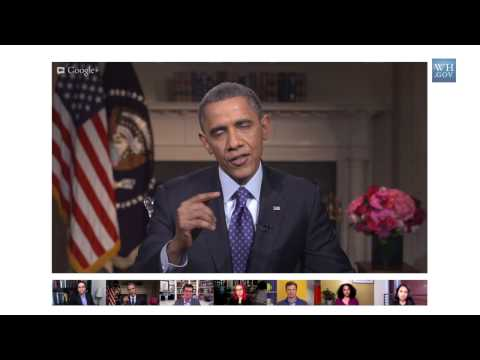 President Obama on the Minimum Wage in a Google+ Hangout