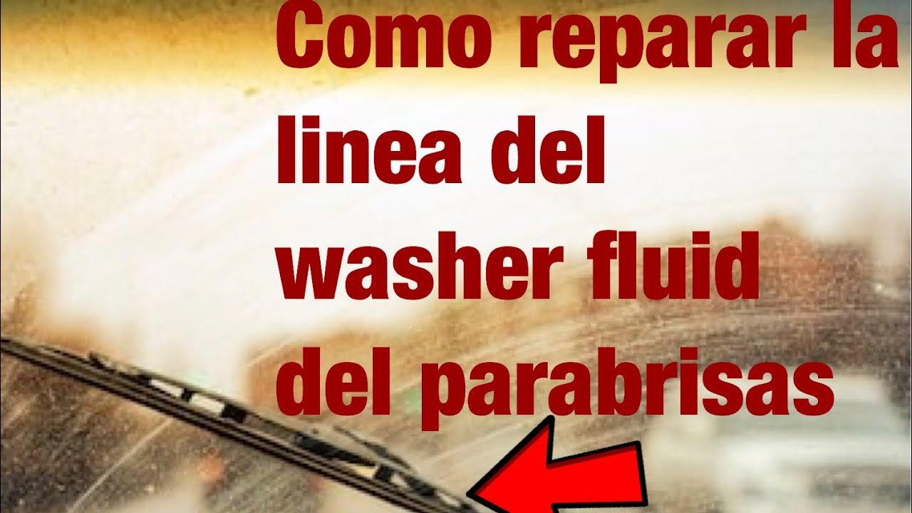 Como Reparar La Linea Del Washer Del Parabrisas.