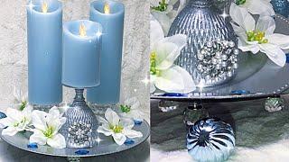 Elegant Candle Arrangment Display Idea #homedecor #diyhack #diyideas #diylifestyle