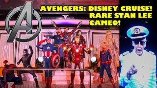 Avengers: Disney Cruise! With RARE Stan Lee Cameo! 4K