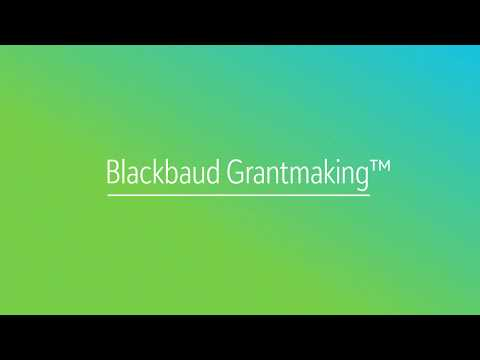 Blackbaud Grantmaking Deep Dive
