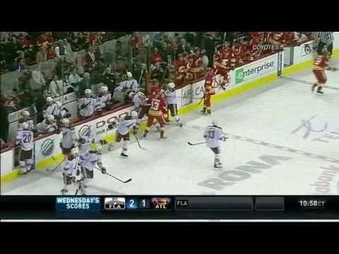 Olli Jokinen cross-check on Wolski - NHL Fox Sports Arizona Feed