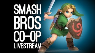 SMASH BROS CO-OP LIVESTREAM: Ellen & Luke vs The Internet in Smash Bros Ultimate Online LIVE @Server