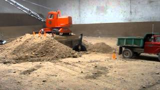 Radio Controlled Drag Line Crane Loading Dump Truck