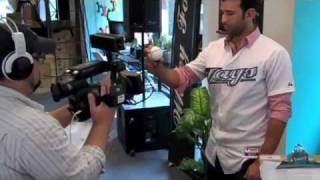Jose Bautista Visits MLB Fan Cave