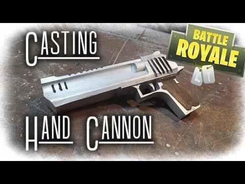 FORTNITE Real Life Challenge: Making Hand Cannon - Desert Eagle (Aluminum Casting)